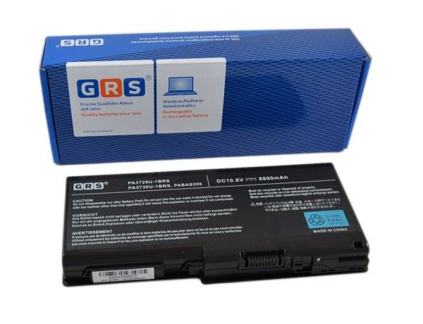 Akku Toshiba Qosmio X505, PA3729U-1BRS, PA3730U-1BRS, 8800mAh,10,8V