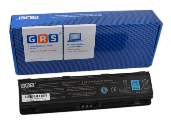 Akku Toshiba L850, L855, L870, L875, PA5026U-1BRS, 6600mAh,10,8V