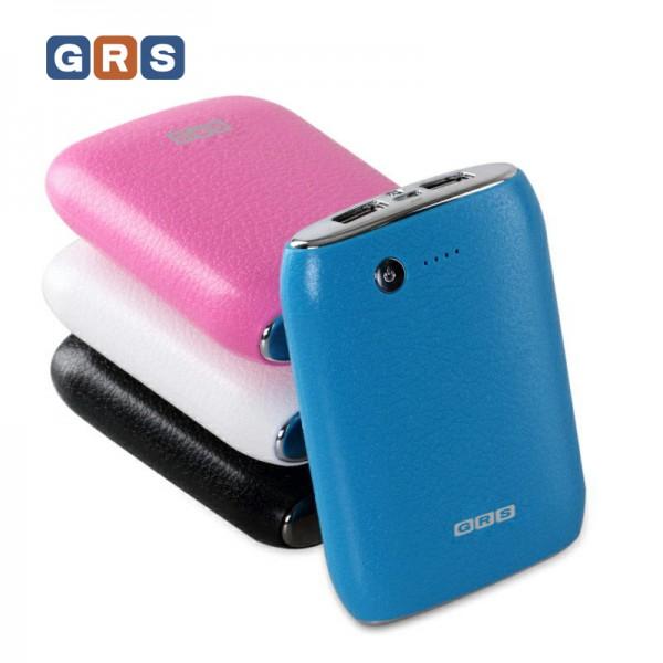 GRS Ersatzakku mobiler Akku für iPhone, iPad, Smartphone mit 11200mAh, Blau