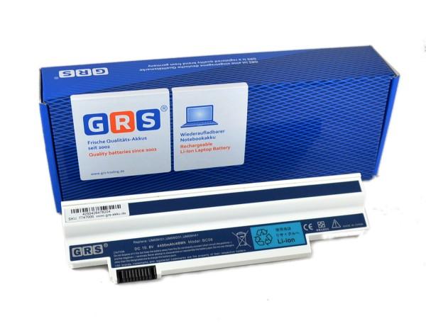 Akku UM09H73, Acer Aspire one 532h, 4400 mAh, weiß
