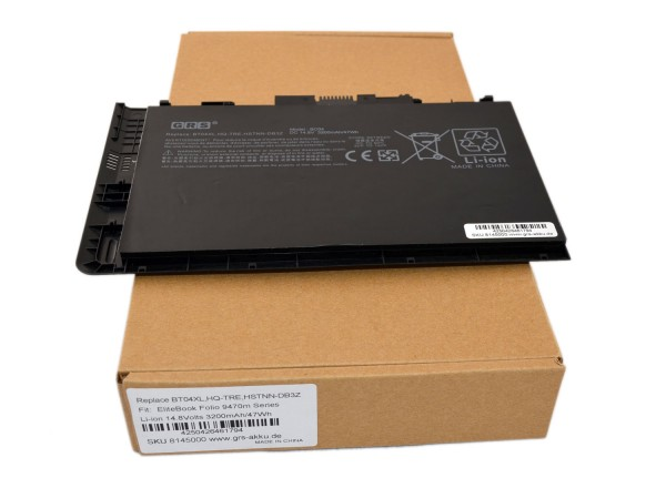Akku HP EliteBook Folio HSTNN-IB3Z, HSTNN-I10C, 3200mAh/47Wh 14,8V