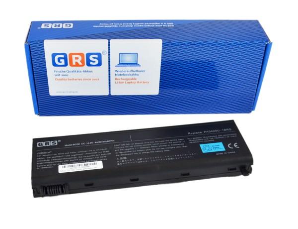 Akku Toshiba Equium Serien, PA3450U-1BRS, PA3420U-1BRS ,4400 mAh, 14,8V