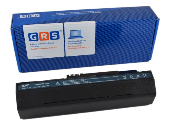 Akku UM08A71, Acer Aspire one A110, 6600 mAh