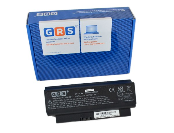 Akku 482372-322, HP Compaq Business Notebook 2230S, 4400 mAh