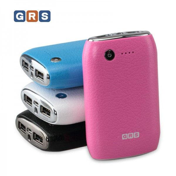 GRS Ersatzakku mobiler Akku für iPhone, iPad, Smartphone mit 7800mAh, Weiss
